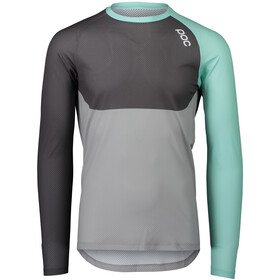 POC MTB Pure LS Jersey Men, light fluorite green/sylvanite grey/alloy grey